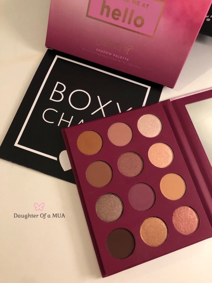 BoxyCharm April 2018 Colourpop You Had me at hello